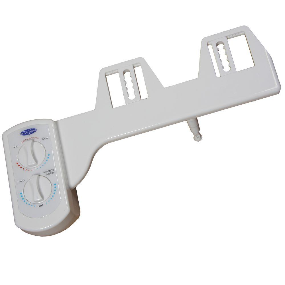 Non-Electric Hot and Cold Water Attachable Bidet System in White