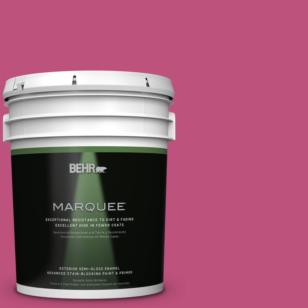 BEHR MARQUEE 5-gal. #S-G-100 Tutti Frutti Semi-Gloss Enamel Exterior Paint