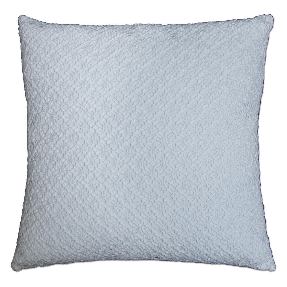 Decorative Pillows With Lace : Heritage Lace Crochet Envy White Linea Decorative Pillow-CEL2424W-2 - The Home Depot