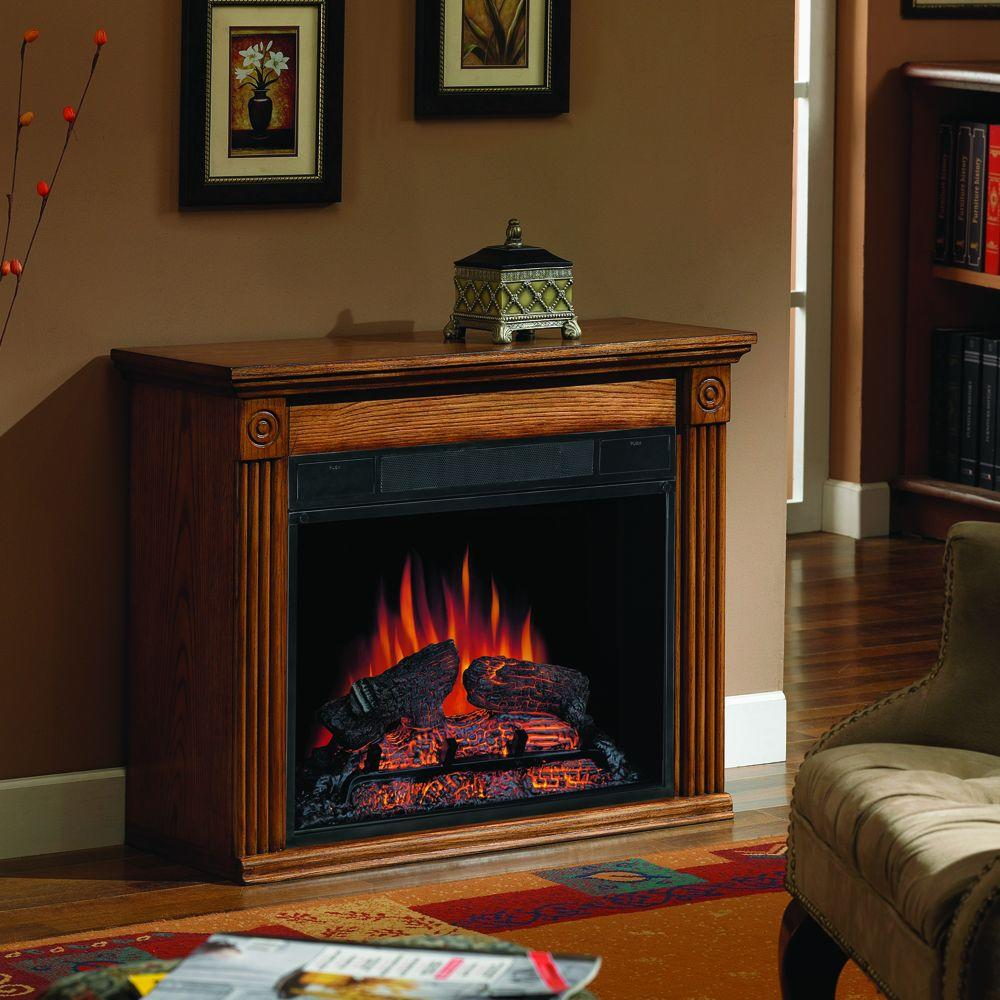 Chimney Free Bennington 31 in. Compact Electric Fireplace in Oak-DISCONTINUED