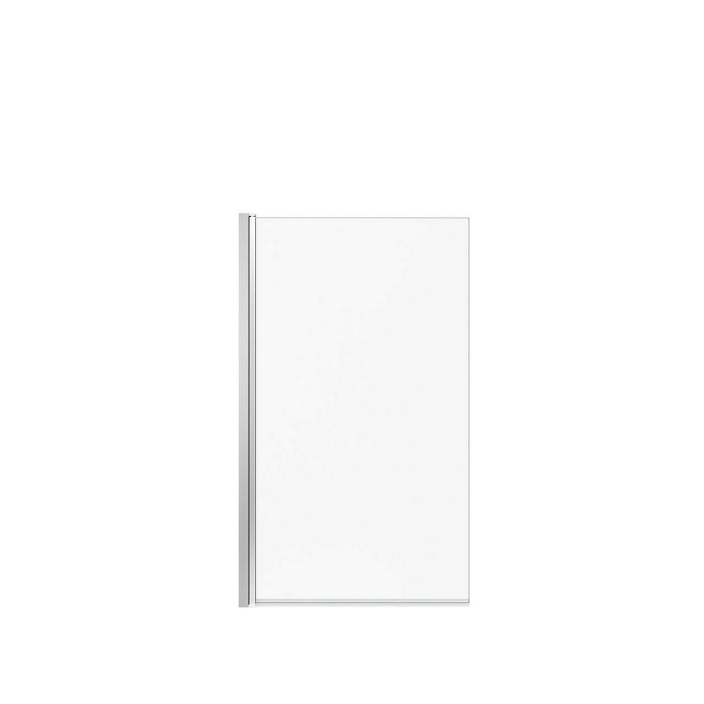 MAAX Axial Square 34 in. x 58 in. Frameless Fixed Tub Door in Chrome ...