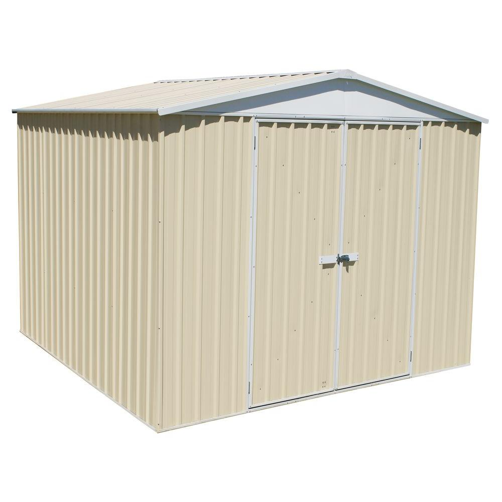 ABSCO 10 ft. x 10 ft. HighLander Classic Cream Storage Shed