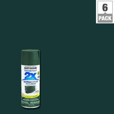 12 oz. Satin Hunt Club Green General Purpose Spray Paint (6-Pack)