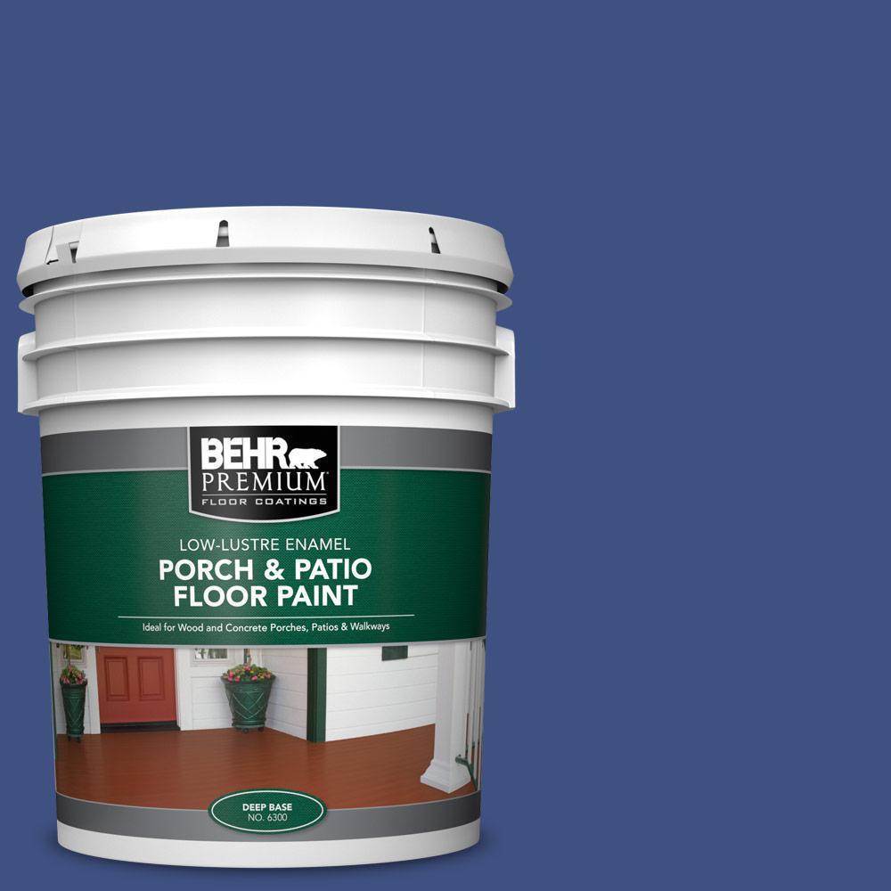 Behr Premium 5 Gal Ppu15 02 Mozart Low Lustre Enamel Interior Exterior Porch And Patio Floor Paint 630005 The Home Depot