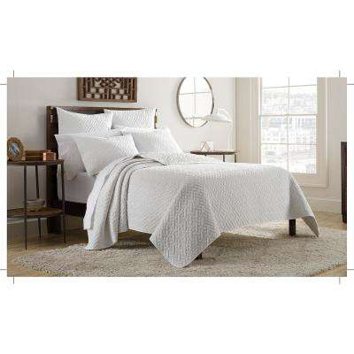 Kennedy 3-Piece White King Mini Quilt Set