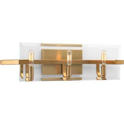 Cahill Collection 3-Light Brushed Bronze Bath Light