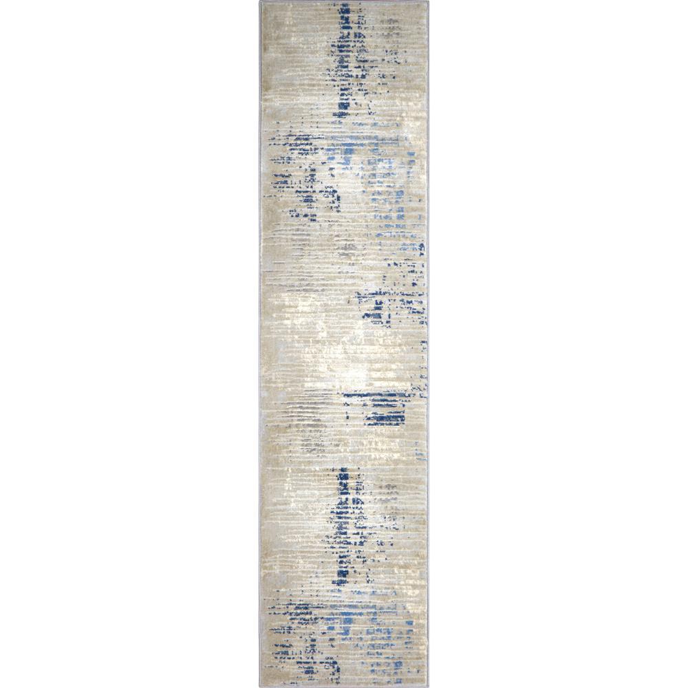 Melrose Lorenzo Gray/Blue 1 ft. 8 in. x 7 ft. 2 in. Indoor Area Rug