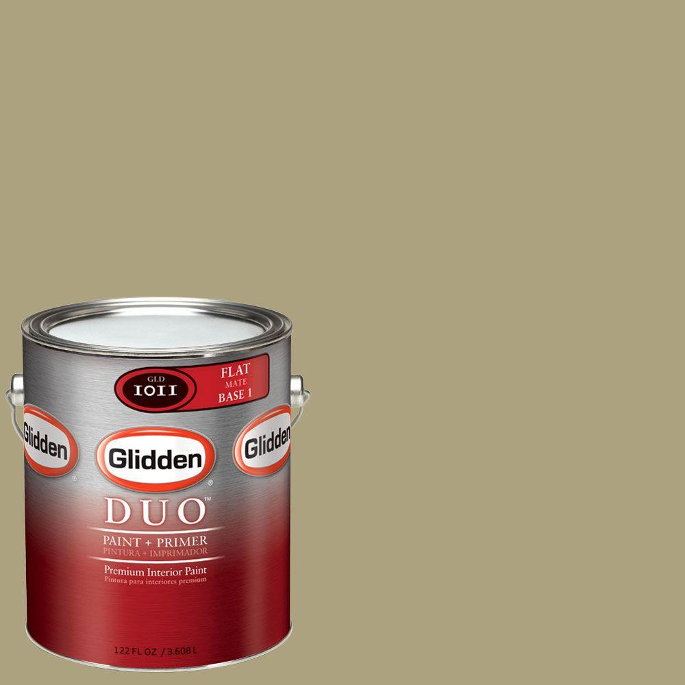 Glidden DUO Martha Stewart Living 1-gal. #MSL093-01F Flower Flat Interior Paint with Primer-DISCONTINUED