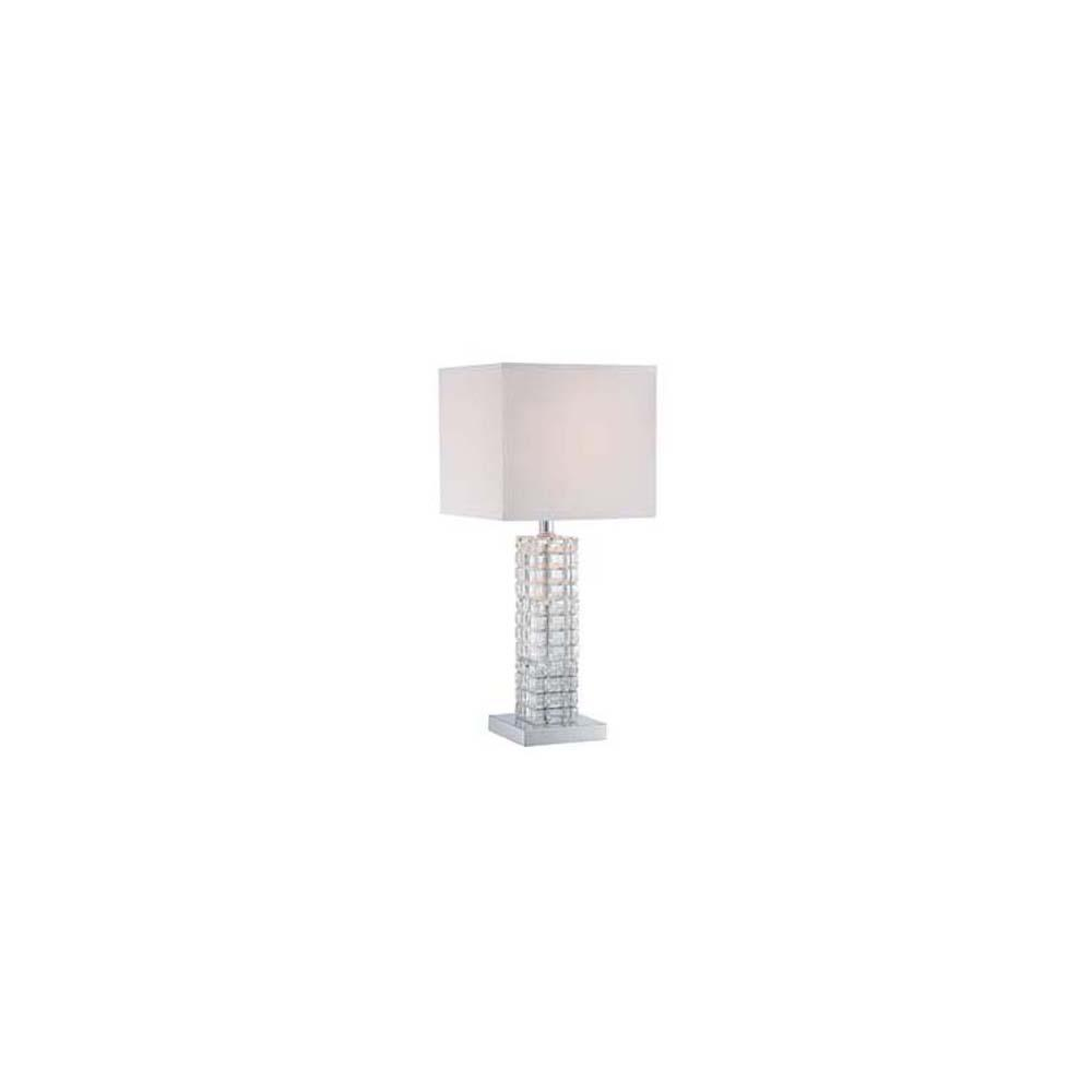 22.5 in. Polished Chrome Table Lamp