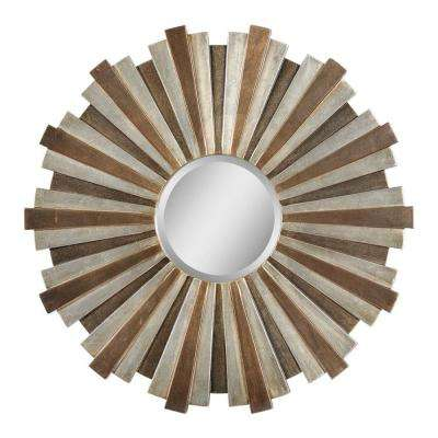 Luna 33 in. x 33 in. Beige Mirror