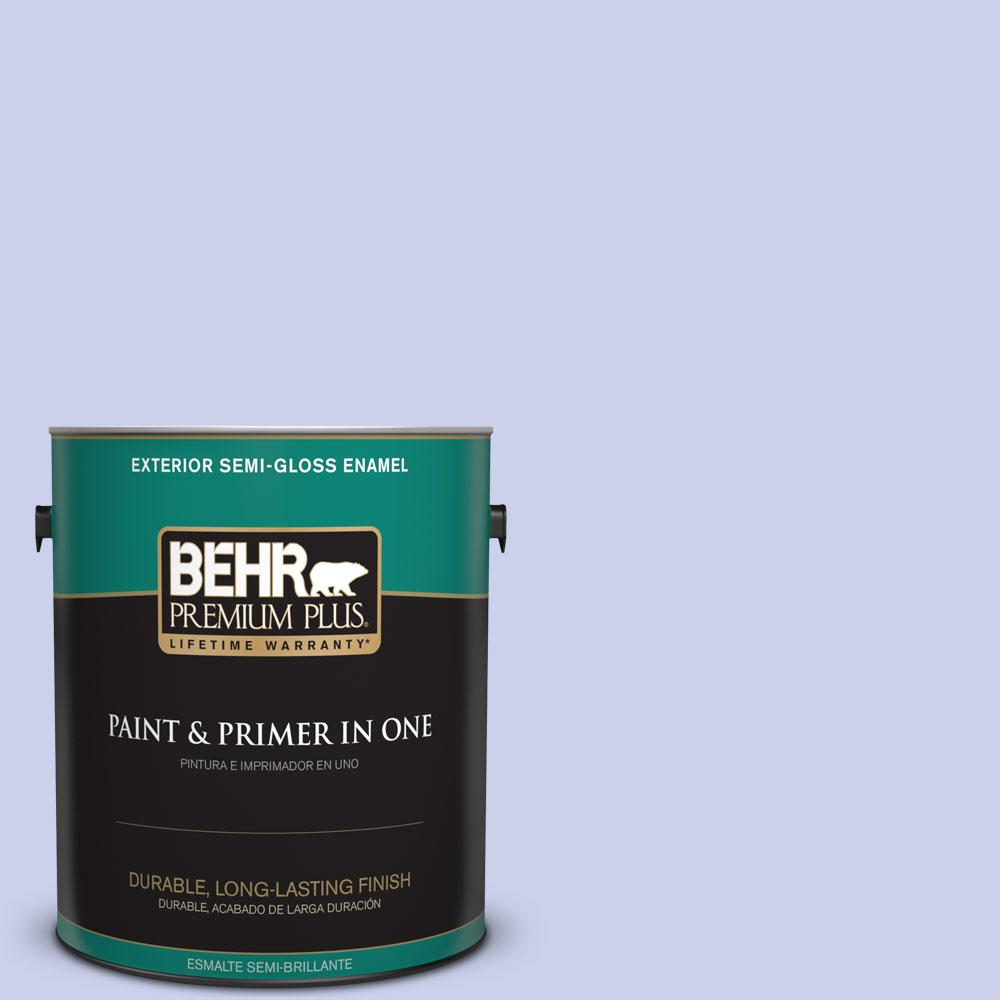 BEHR Premium Plus 1-gal. #600A-2 Lazy Sunday Semi-Gloss Enamel Exterior Paint