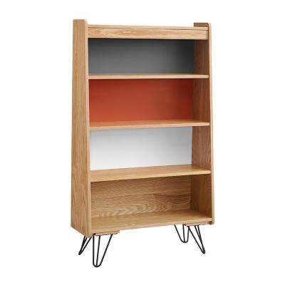 Marshall Natural, Charcoal, Orange, White Bookcase