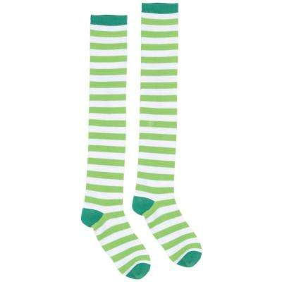 Green and White Striped St. Patrick's Day Knee High Socks (2-Count, 2-Pack)