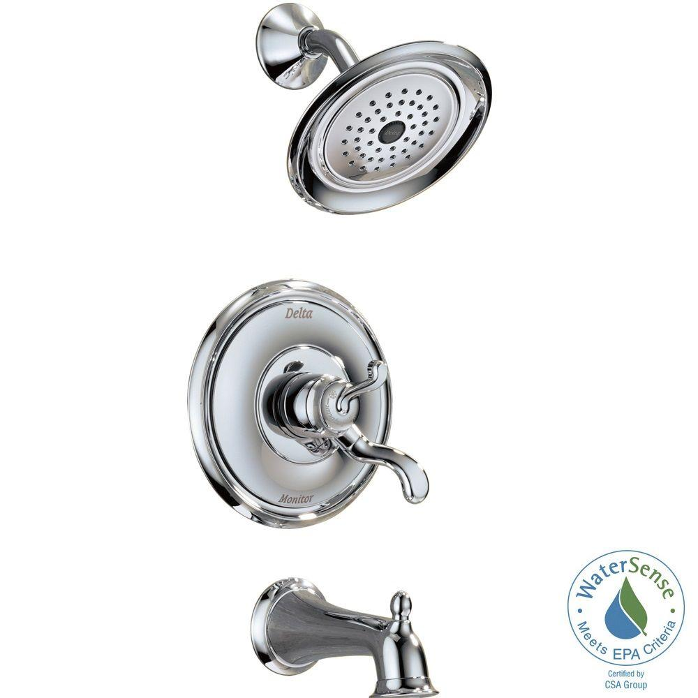Vessona Single-Handle 1-Spray Tub and Shower Faucet in Chrome (Valve Included)