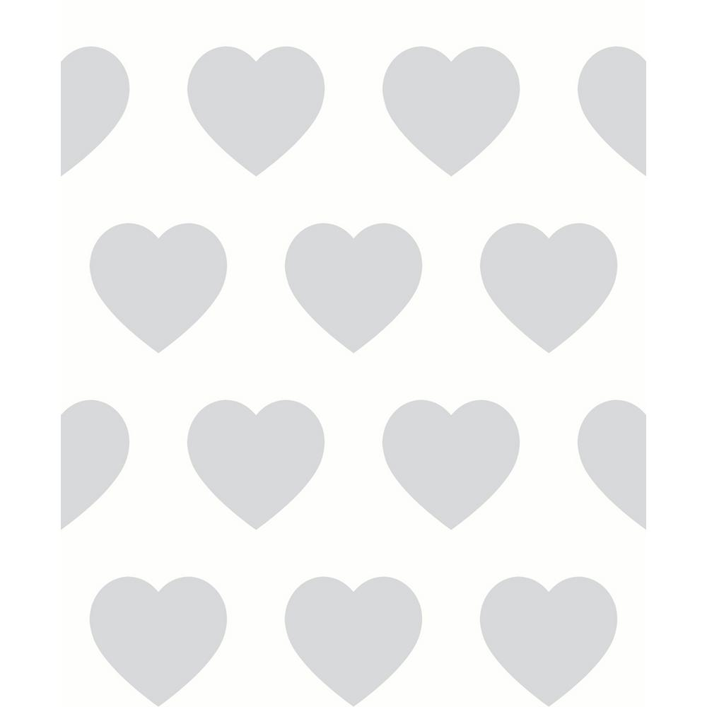 Arthouse Sweetheart Silver Non Pasted Wallpaper Covers 5726 Sq Ft