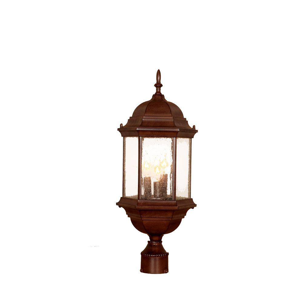 Landscape Lighting Naples Fl: Acclaim Lighting Naples 3-Light Marbleized Mahogany