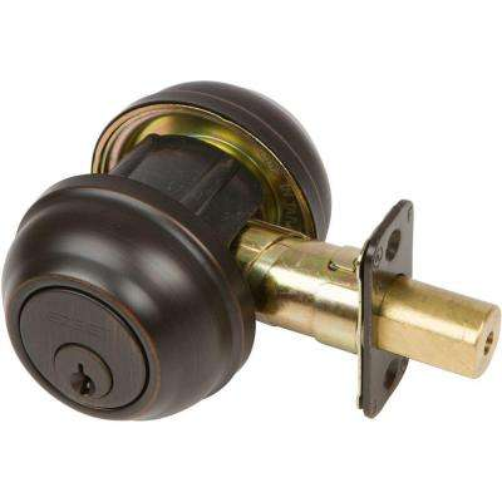 Designer Series Double Cylinder Tuscany Bronze Deadbolt