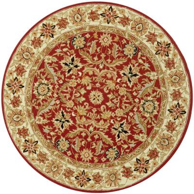 Chelsea Red/Ivory 8 ft. x 8 ft. Round Area Rug