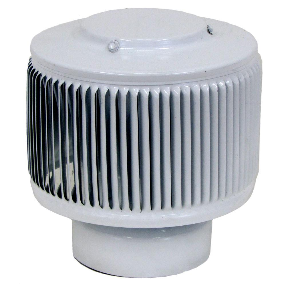 Aura PVC Vent Cap 4 in. Dia Exhaust Vent with Adapter