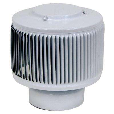 Aura PVC Vent Cap 4 in. Dia Exhaust Vent with Adapter to Fit Over 4 in. PVC Pipe in White Powder Coat