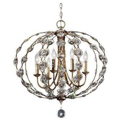 Leila 6-Light Burnished Silver Chandelier