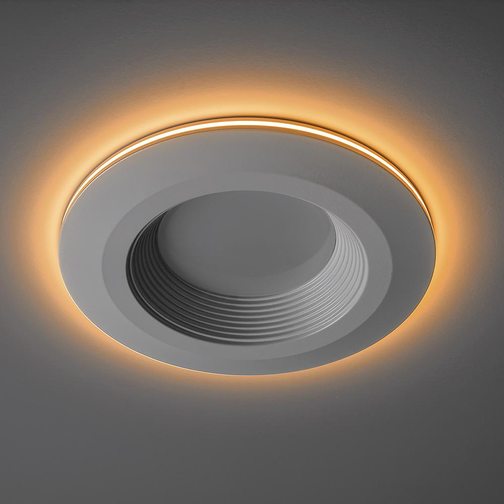 Commercial Electric 4 In Selectable Integrated Led Recessed Trim Can Light With Night Feature 5 Cct 625 Lumens 11 Watts Dimmable
