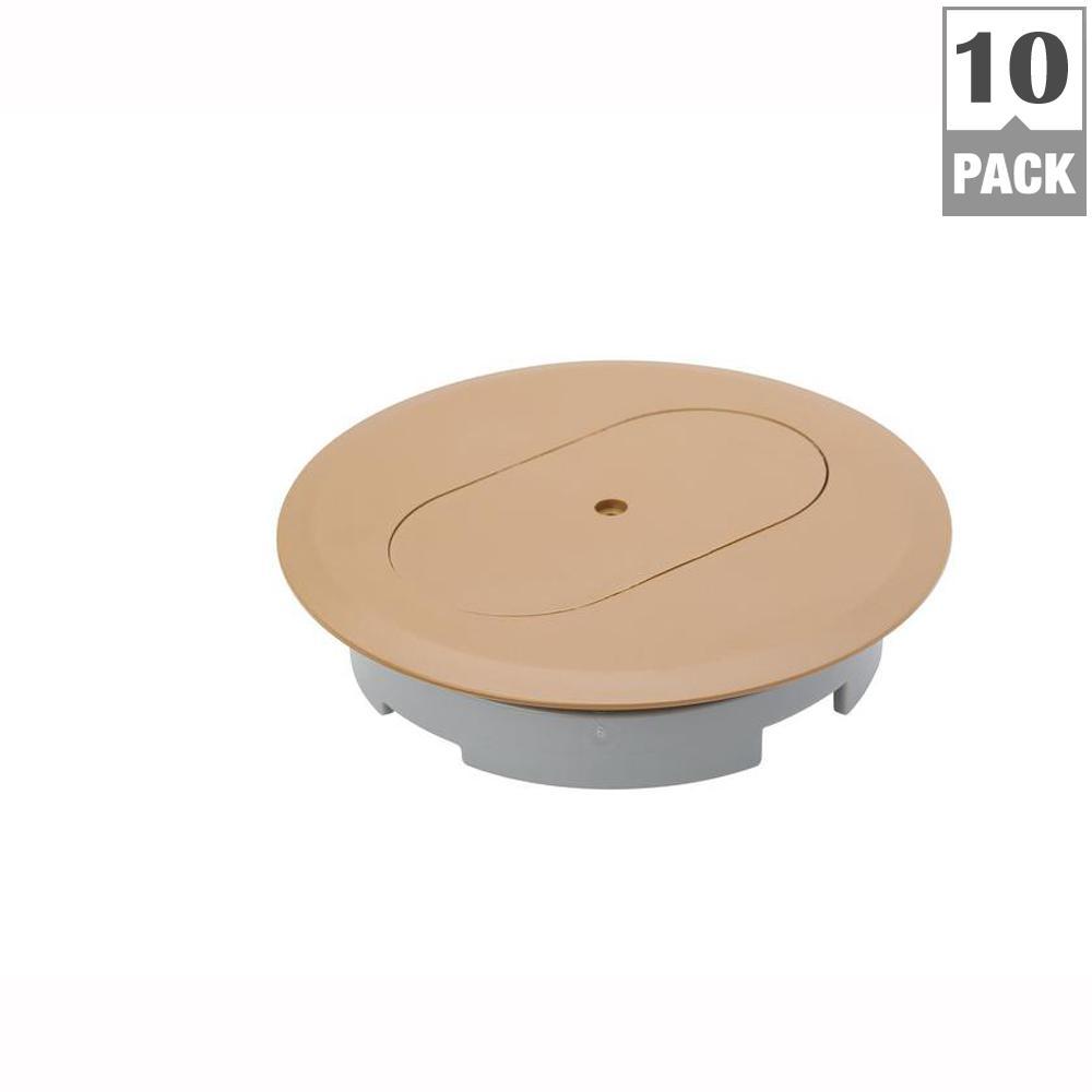1-Gang Floor Box Cover Duplex Receptacle (Case of 10)