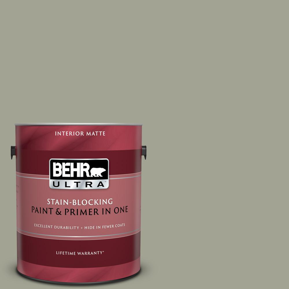 BEHR ULTRA 1 gal. Home Decorators Collection #HDC-NT-01 Woodland Sage Matte Interior Paint & Primer