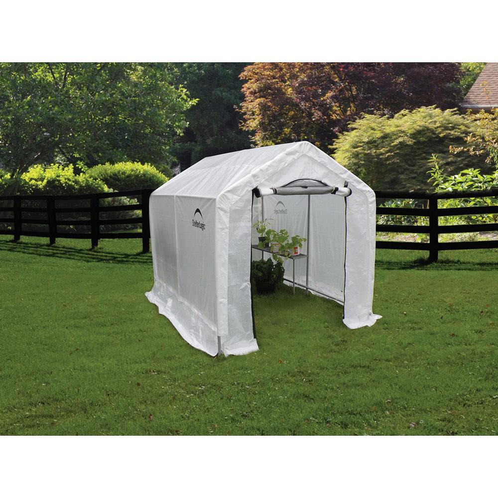 Peak Backyard Greenhouse with Integrated Shelving 8 Translucent