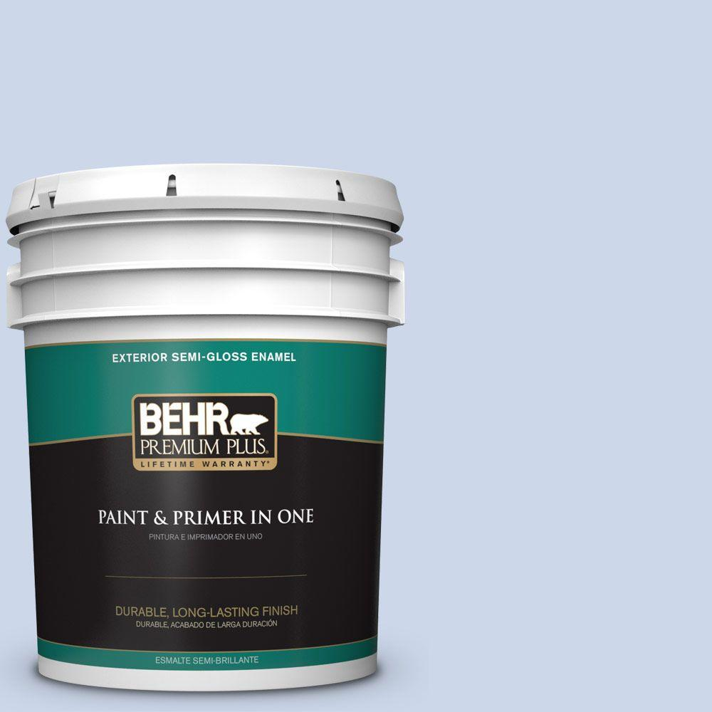 5-gal. #610C-2 Calm Water Semi-Gloss Enamel Exterior Paint