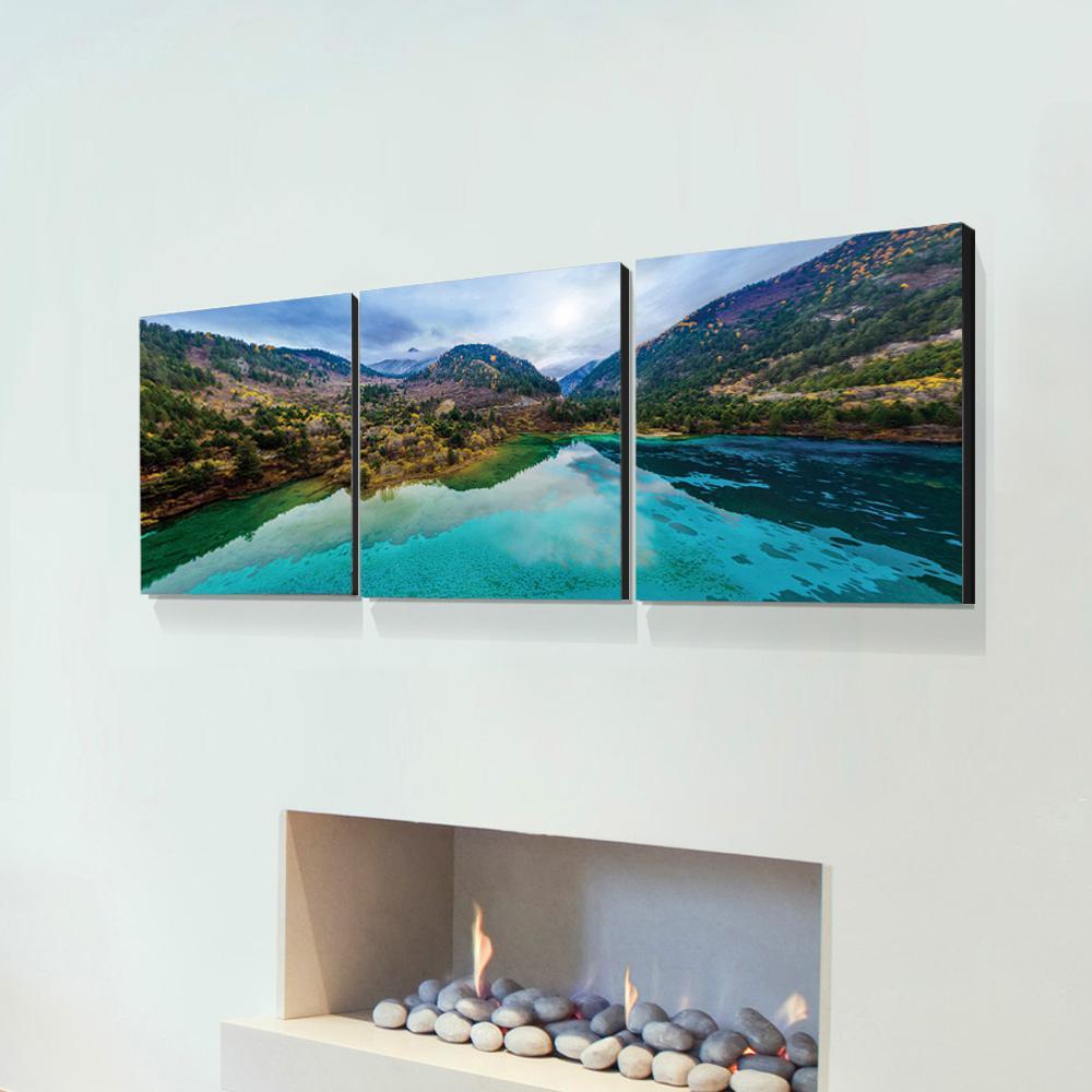 "16 in. x 48 in. ""JiuZhai Valley"" Printed Wall Art"