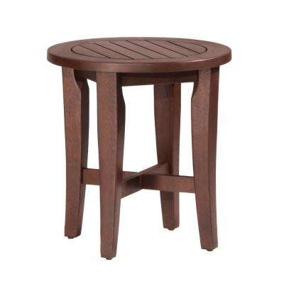 Preston Walnut Round Vanity Stool