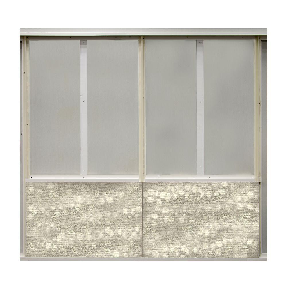 SoftWall Finishing Systems 20 sq. ft. Pebble Fabric Covered Bottom Kit Wall Panel