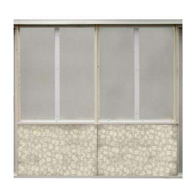 20 sq. ft. Pebble Fabric Covered Bottom Kit Wall Panel