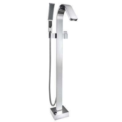 1 Handle Freestanding Floor Mount Roman Tub Faucet ...
