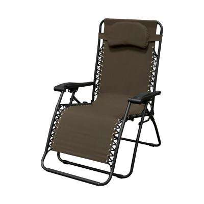Infinity Oversized Brown Metal Zero Gravity Patio Chair