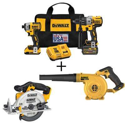 FLEXVOLT 60-Volt and 20-Volt MAX Lithium-Ion Cordless Brushless Combo Kit (2-Tool) with Bonus Blower and Circular Saw