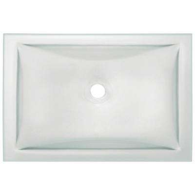 Undermount Glass Bathroom Sink In Frost