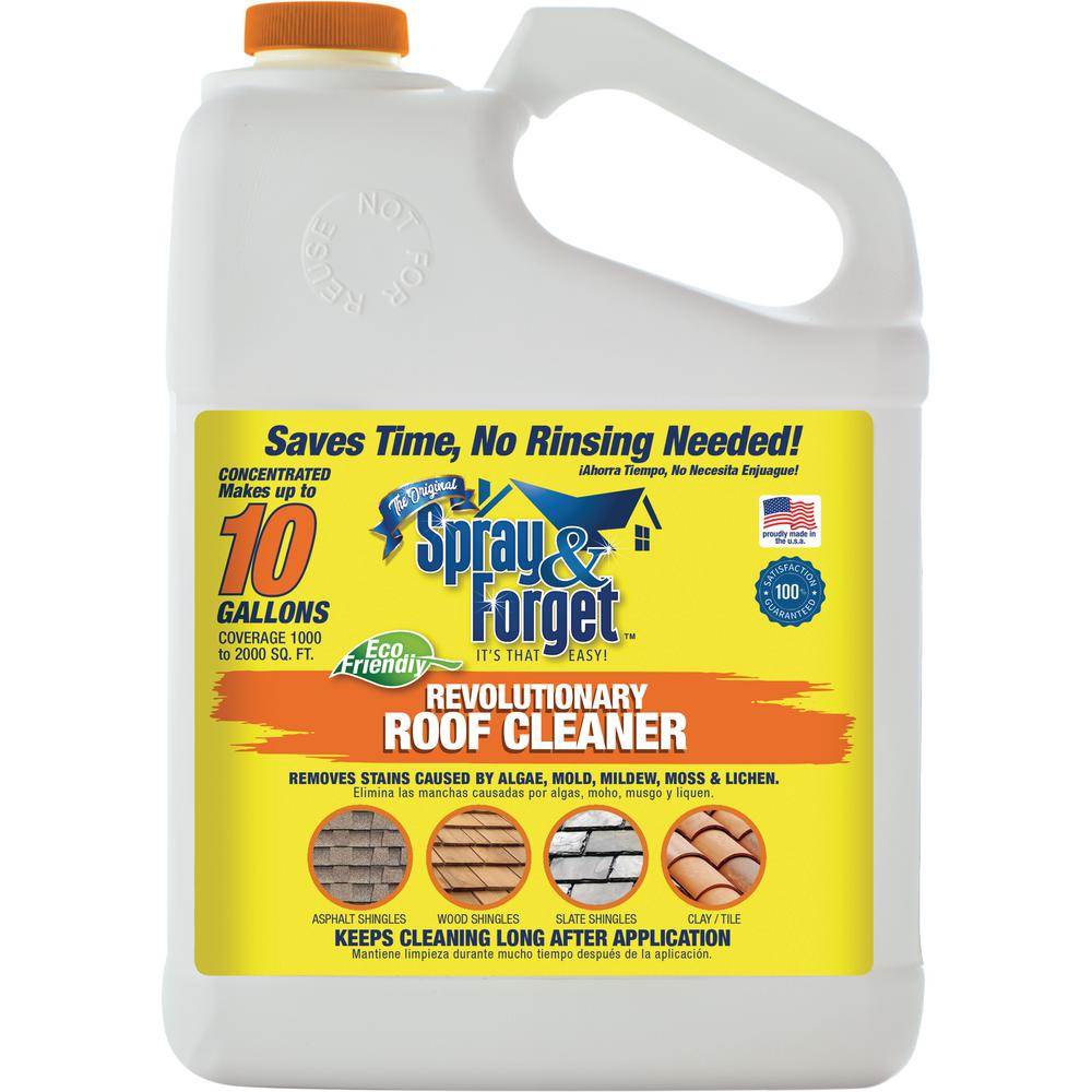 spray and forget 1 gal concentrated no rinse eco friendly roof and