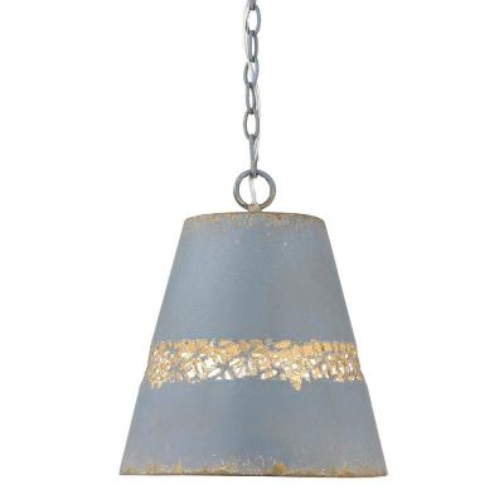 Isabel 1-Light Colonial Blue Pendant