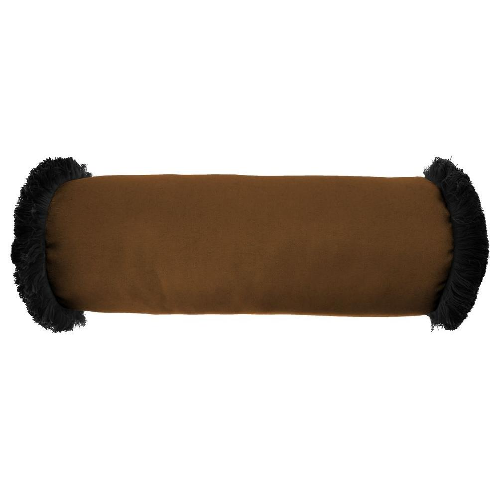 Sunbrella 7 in. x 20 in. Canvas Teak Bolster Outdoor Pillow