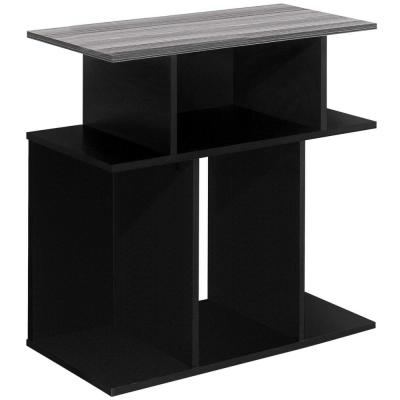 Jasmine 23.75 in. Black and Grey Wood End Table