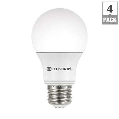 100-Watt Equivalent A19 Basic Non-Dimmable LED Light Bulb, Daylight (4-Pack)
