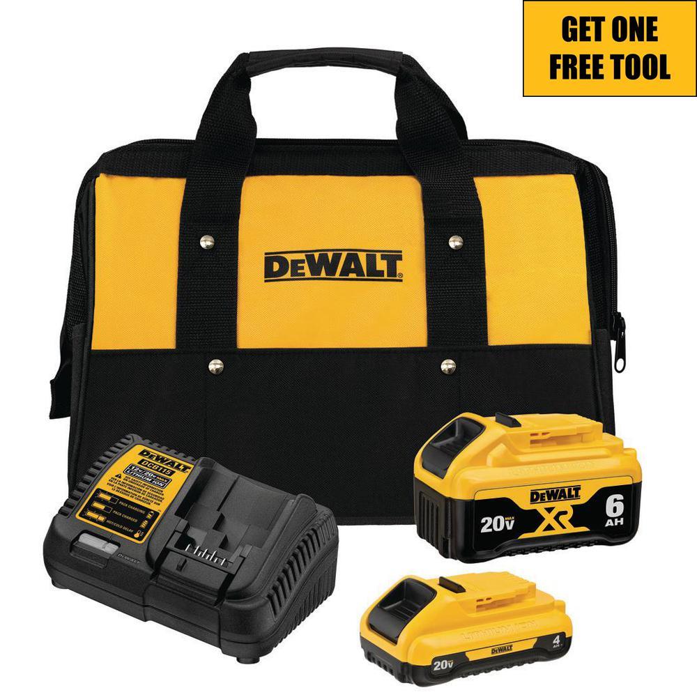 Deals on DeWalt 20-Volt MAX XR Lithium-Ion Starter Kit w/Battery + Free Tool