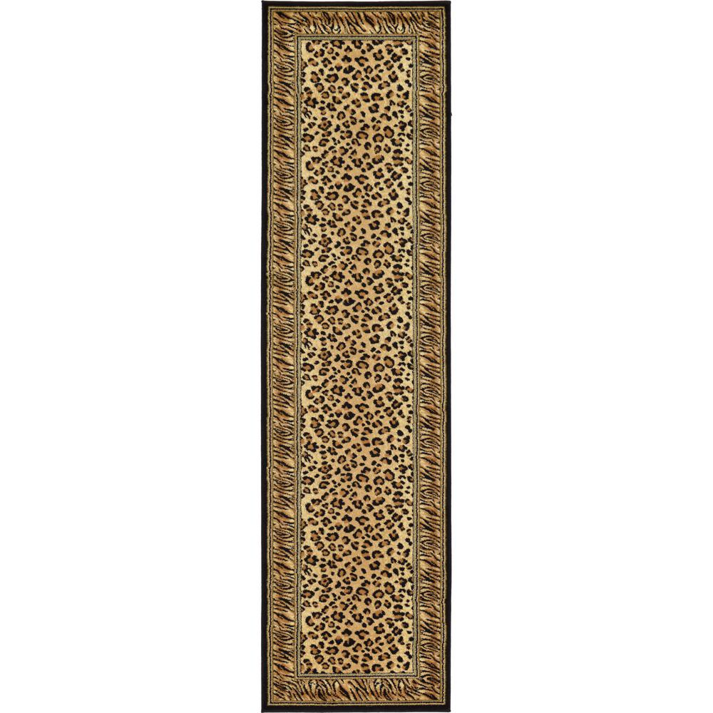 Unique Loom Safari Light Brown 3 Ft X 10 Ft Runner Rug