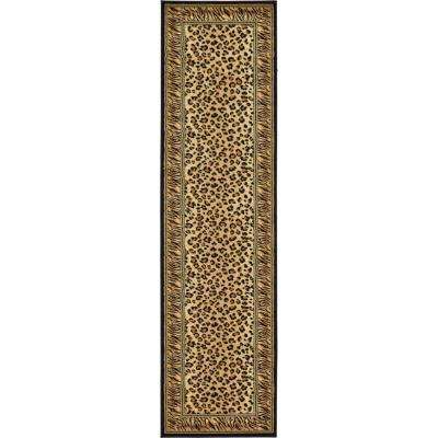 Wildlife Cheetah Light Brown 2' 7 x 10' 0 Runner Rug