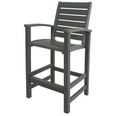 Signature Slate Grey Patio Bar Chair