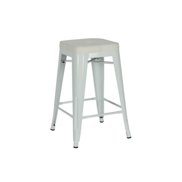 Remarkable Dhp Lena 24 In White Metal Counter Stool With Wood Seat Gmtry Best Dining Table And Chair Ideas Images Gmtryco