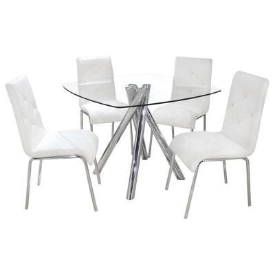 Madison White Dinette Set (5-Piece)