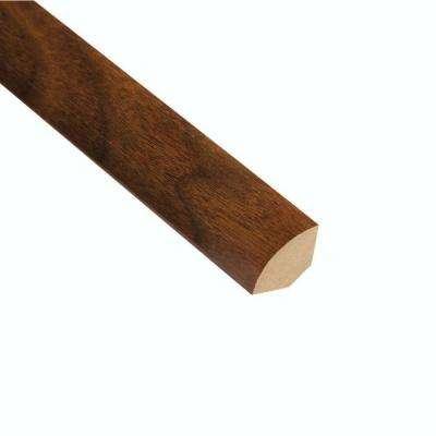 High Gloss Monterrey Walnut 3/4 in. Thick x 3/4 in. Wide x 94 in. Length Laminate Quarter Round Molding